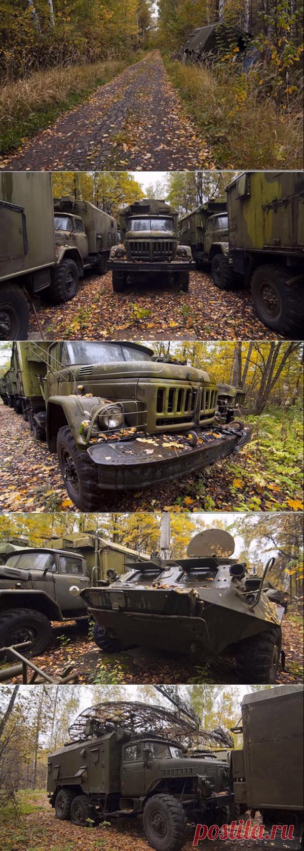 Пошли в лес за грибами, а наткнулись на брошенную военную технику | Старый Гараж | Яндекс Дзен