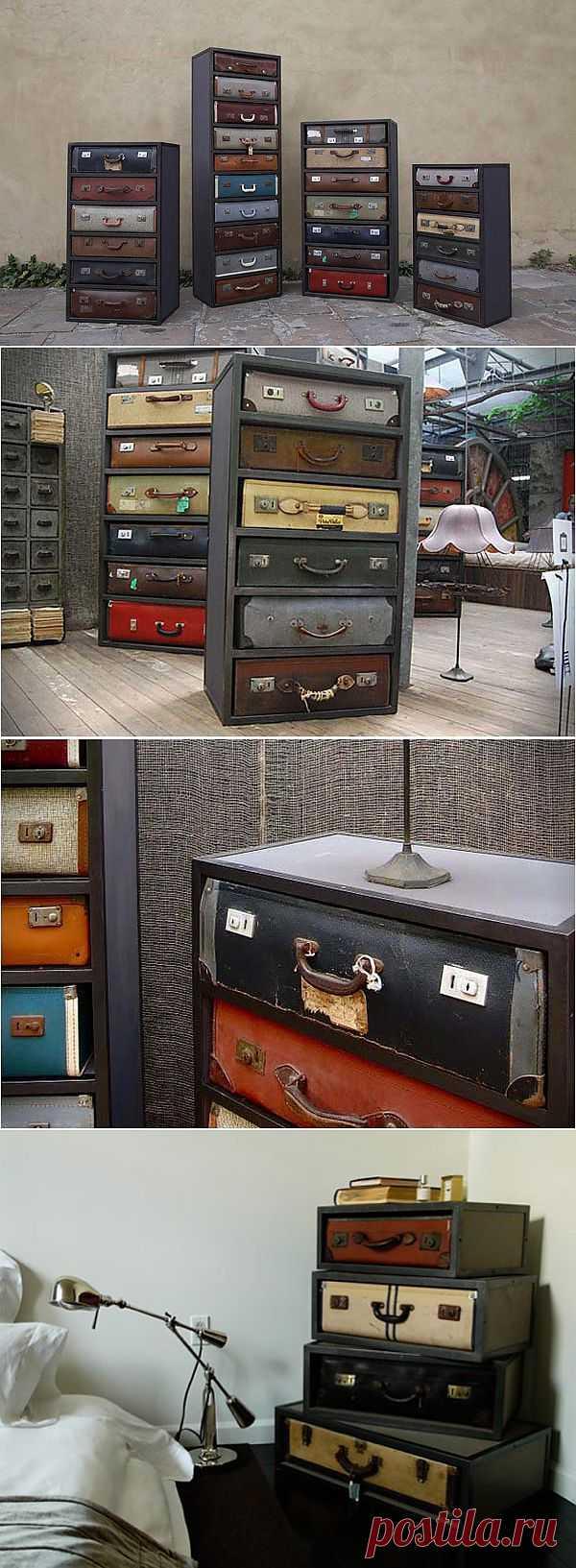 Винтажная мебель из чемоданов. - Мир отделки и ремонта