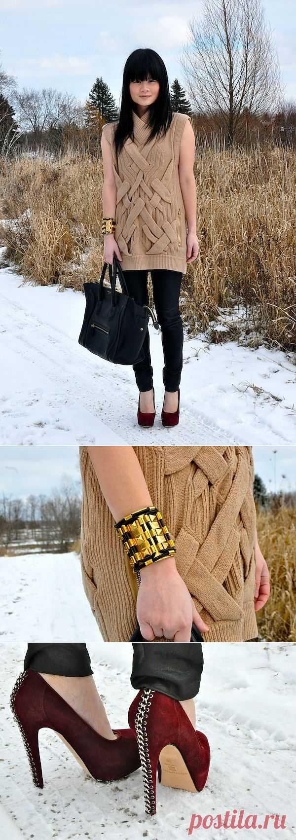 Интересный свитер / Вязание / Модный сайт о стильной переделке одежды и интерьера