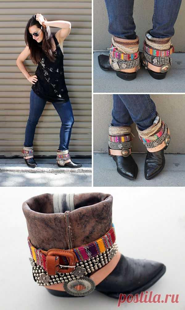 Еще одна переделка сапожек (DIY) / Обувь / Модный сайт о стильной переделке одежды и интерьера
