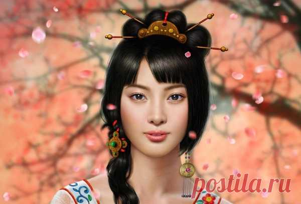 Красота лица. Как японки делают массаж лица?