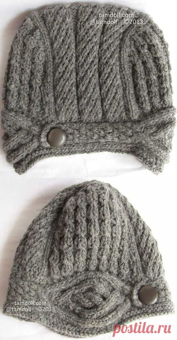Vogue Knitting Hat Completed | Tamdoll's Silver Mountain Originals