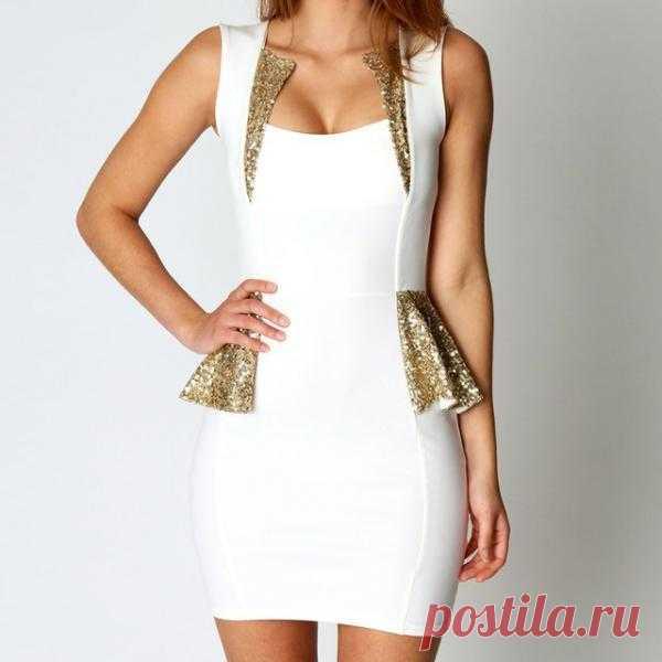 Просто шикарное платье в золотистыми вставками. Очень секси! $50 USD