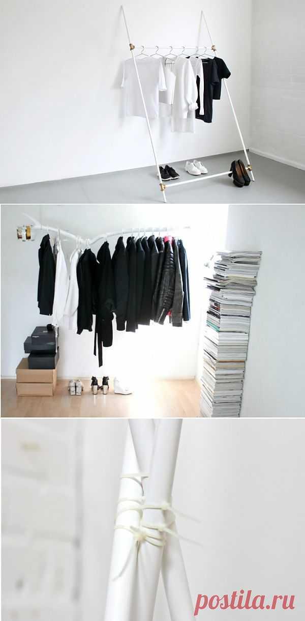 3 вешалки для одежды своими руками за 5 минут (DIY) / Мебель / Модный сайт о стильной переделке одежды и интерьера