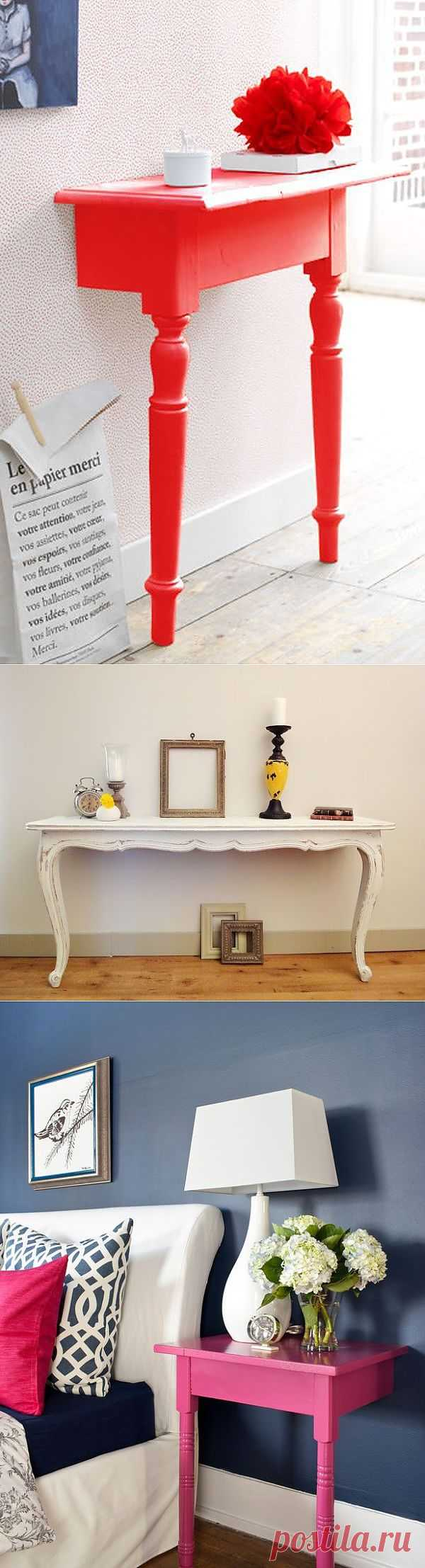 Консоли из распиленной мебели (подборка) / Мебель / Модный сайт о стильной переделке одежды и интерьера
