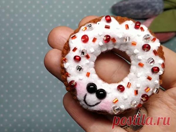 Мастер-класс : Пончик из фетра своими руками | Журнал Ярмарки Мастеров