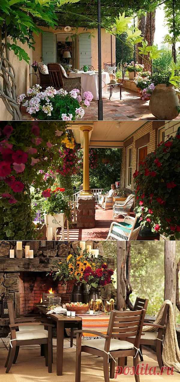 Летние веранды и садовые дворики.