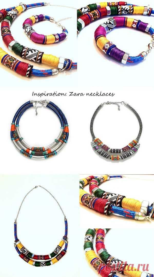 Колье и браслет в этно-стиле своими руками / Украшения и бижутерия / Модный сайт о стильной переделке одежды и интерьера
