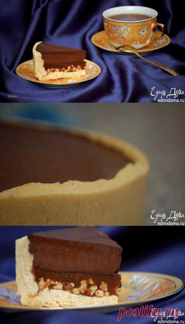 Es de chocolate-acaramelado tart