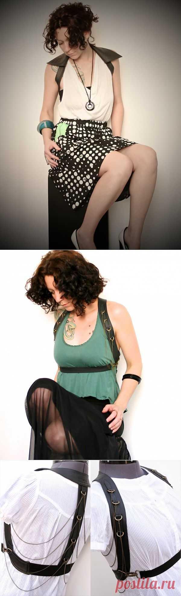 Кожаный пояс-жилет (трафик) / Кожа / Модный сайт о стильной переделке одежды и интерьера
