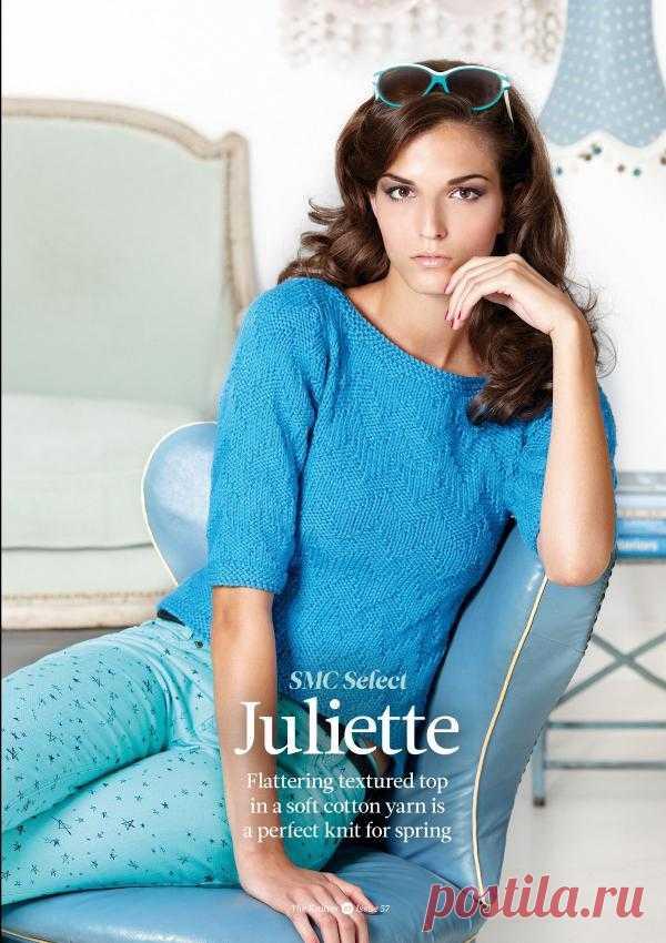 Вязание джемпера Juliette, The Knitter 57