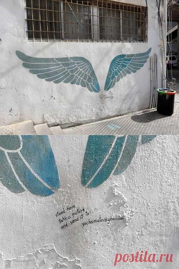 Мне бы, мне бы.... в небо... / Городская среда (граффити, снеговики, ets) / Модный сайт о стильной переделке одежды и интерьера