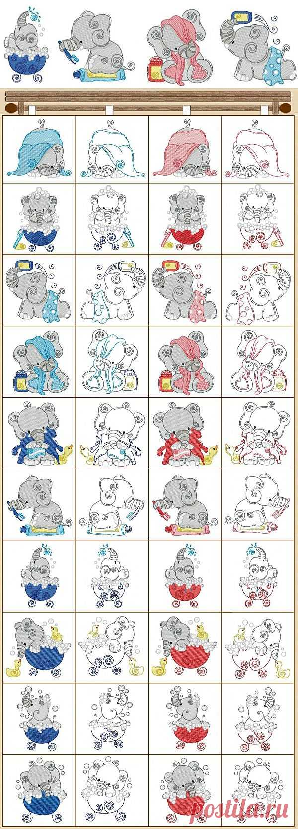 830082100 Bathtime Elephants