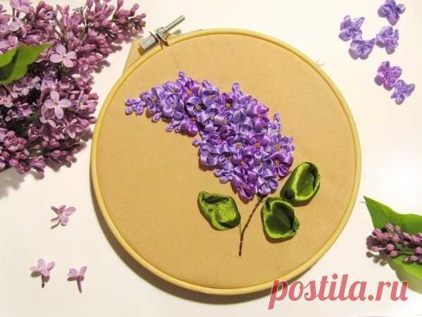 Сирень из атласных лент Сирень из атласных лентСирень из атласных лент позволит чувствовать радость и цветение весны в душе в любое время года.