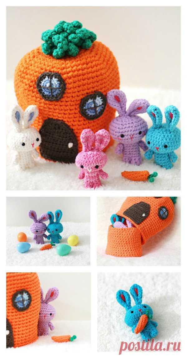 очаровательны бесплатная схема вязания крючком кролика игрушки