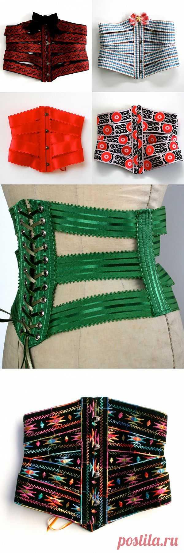 Корсеты - пояса из тесьмы Honey Cooler (подборка) / Ремни / Модный сайт о стильной переделке одежды и интерьера