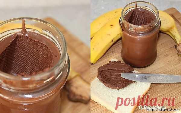 La pasta es de chocolate-de plátano