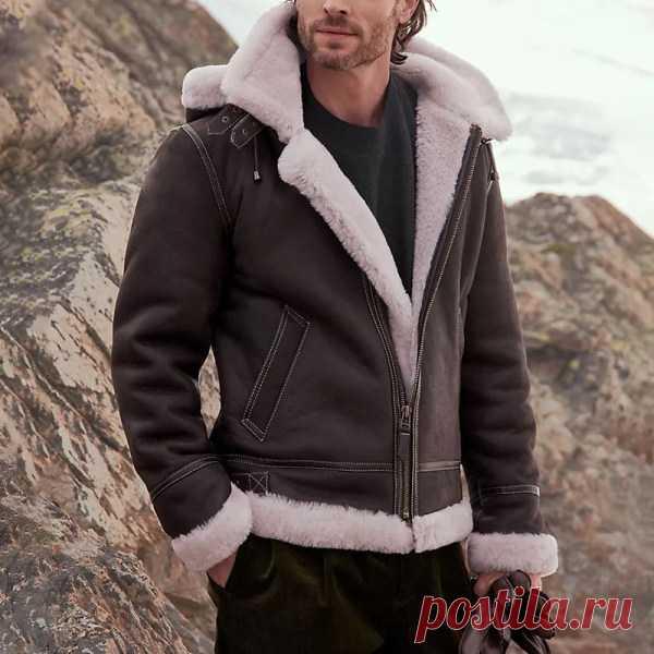 Мужская модная винтажная кожаная куртка в стиле вестерн - blaroken.com