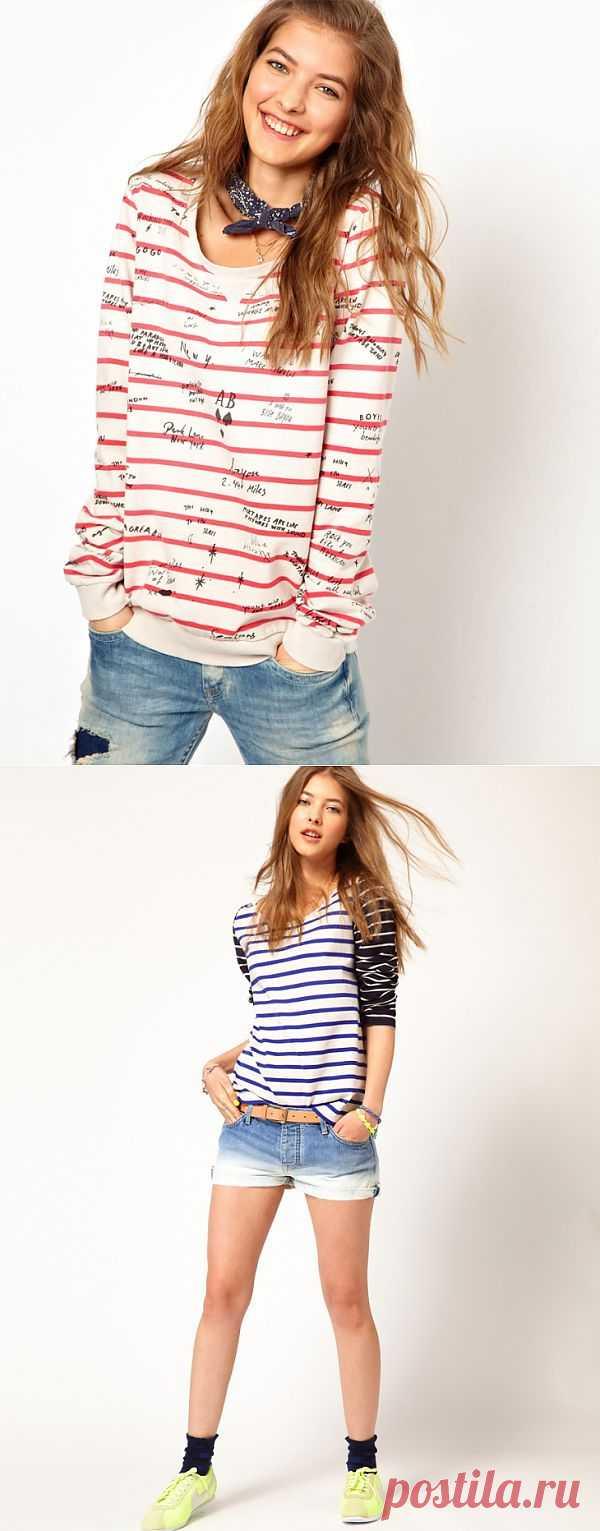 Две идеи для тельняшек от Maison Scotch / Тельняшки / Модный сайт о стильной переделке одежды и интерьера