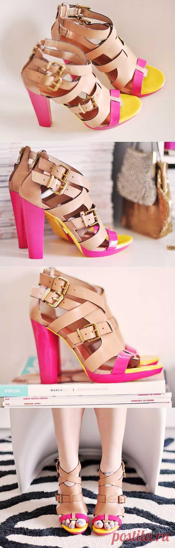 Перекраска босоножек (мастер- класс) / Обувь / Модный сайт о стильной переделке одежды и интерьера
