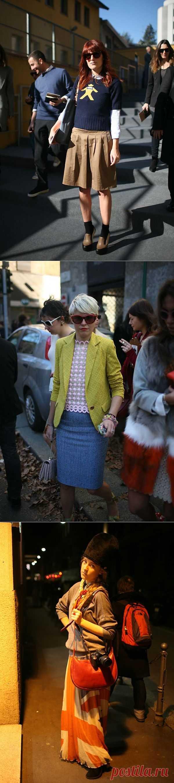 Серия публикаций Milan Fashion Week ч.3:фактура и принт / Street Style / Модный сайт о стильной переделке одежды и интерьера