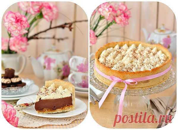 dolphy - Шоколадный тарт с карамелью и соленым арахисом.