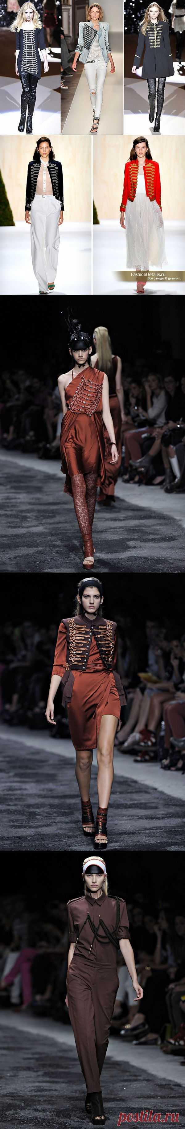 Элементы декора в стиле историческго милитари (трафик) / Детали / Модный сайт о стильной переделке одежды и интерьера