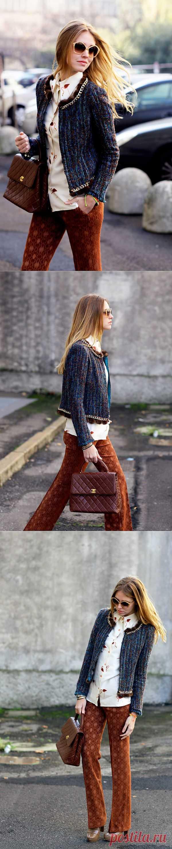 Кардиган с меховыми помпончиками / Жакеты / Модный сайт о стильной переделке одежды и интерьера
