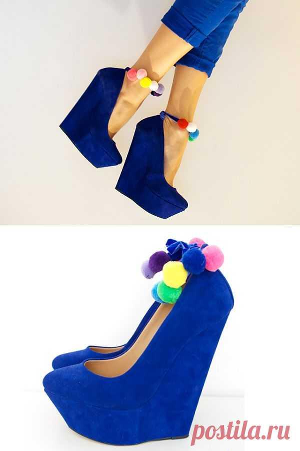Декор помпонами (мастер - класс) / Обувь / Модный сайт о стильной переделке одежды и интерьера