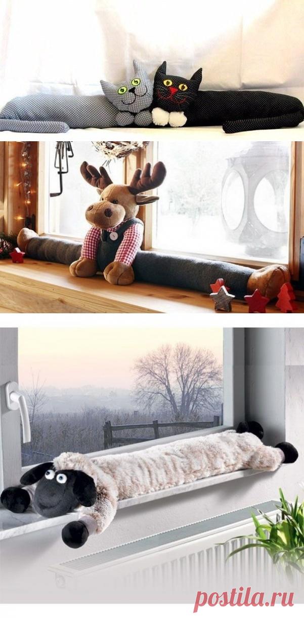 Забавные подушки от сквозняков — Сделай сам, идеи для творчества - DIY Ideas