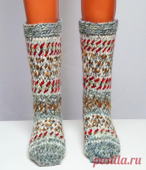 вязание джурабов крючком утепляем ноги модными вещами вязание