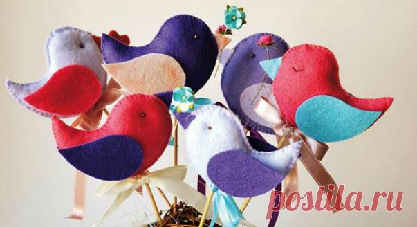 Фетровые птички | 4living.ru | Яндекс Дзен