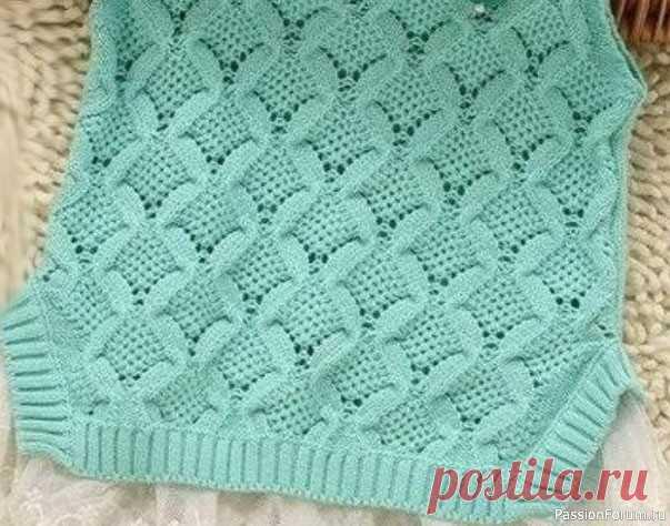 Интересный узор для летней кофточки   Вязание спицами для начинающих