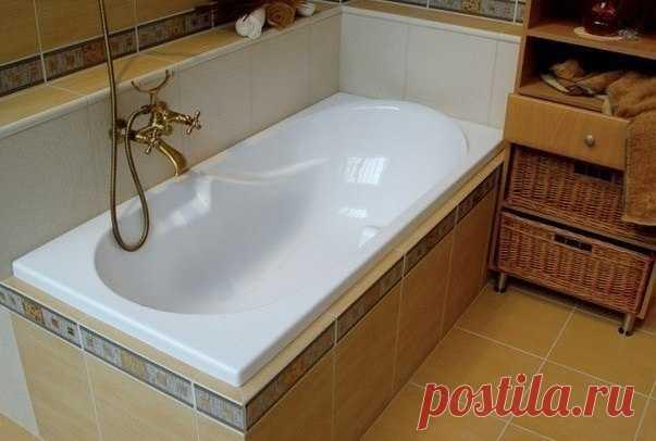 Простой способ сделать ванну белоснежной!