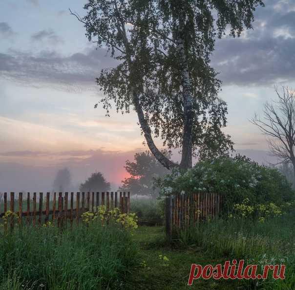 Раннее утро в деревне
