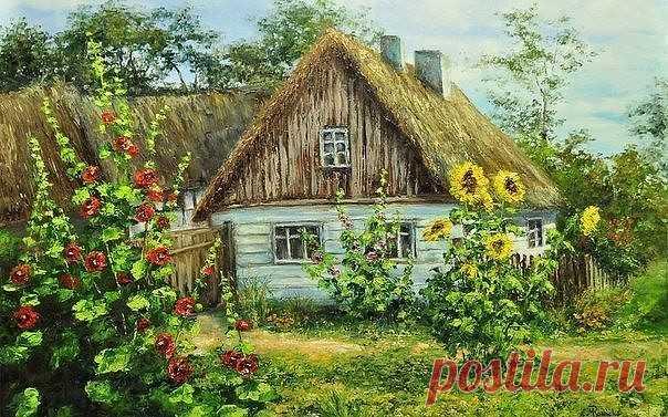 картинки дом деревенские