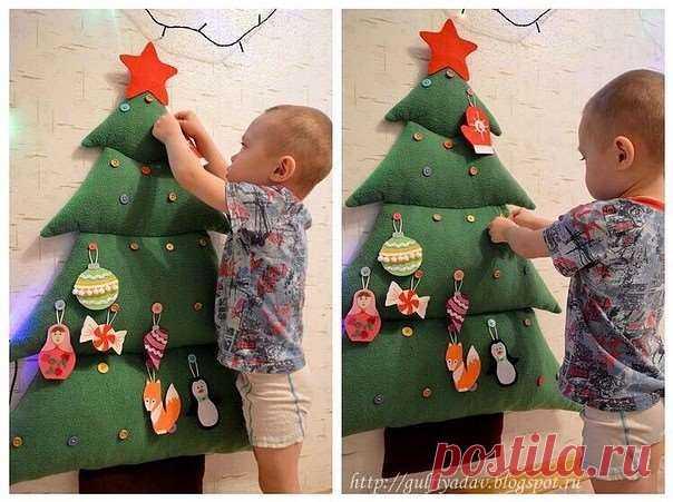 Пусть в этот Новый Год ваш малыш сам нарядит ёлку! | Люблю Себя