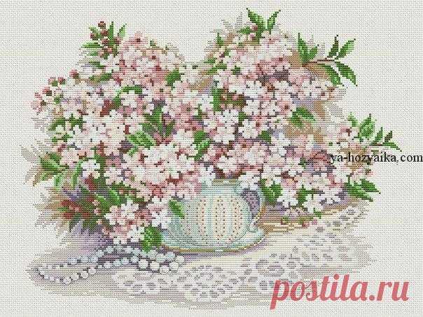 Вышивка крестом букет цветов. Вышивка крестом схемы цветы в вазе ... f3e339adef2f4