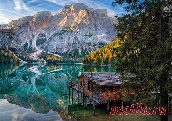 Озеро Брайес — невероятно красивое место в Италии