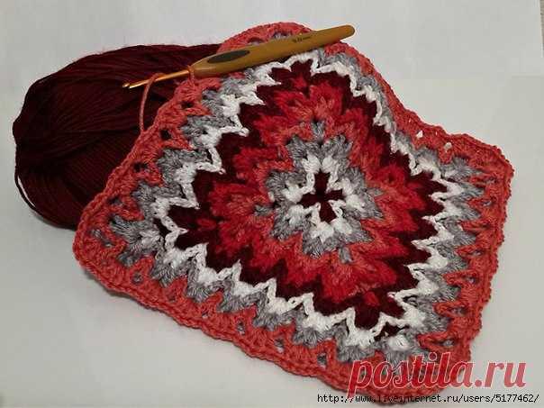 Вязание узора, имитирующего вышивку барджелло.           Смотрите видео:Барджелло крючком   http://www.youtube.com/watch?v=oaLTBRMoRmU  источник