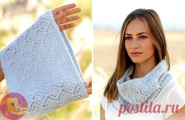 Ажурный шарф снуд невероятной красоты — DIYIdeas