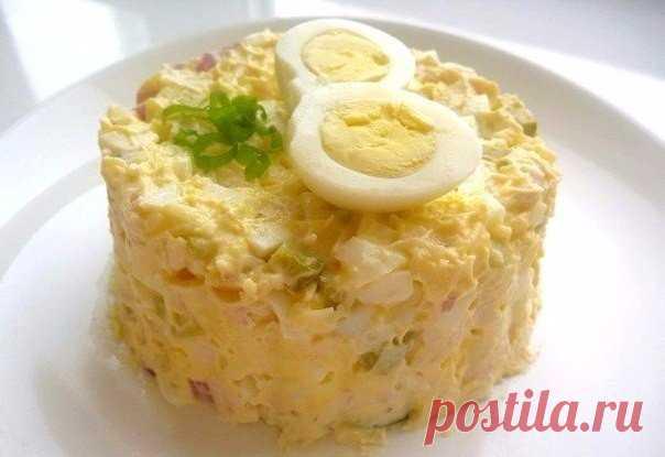 В копилку любимых рецептов – Салат из курицы с соленым огурцом