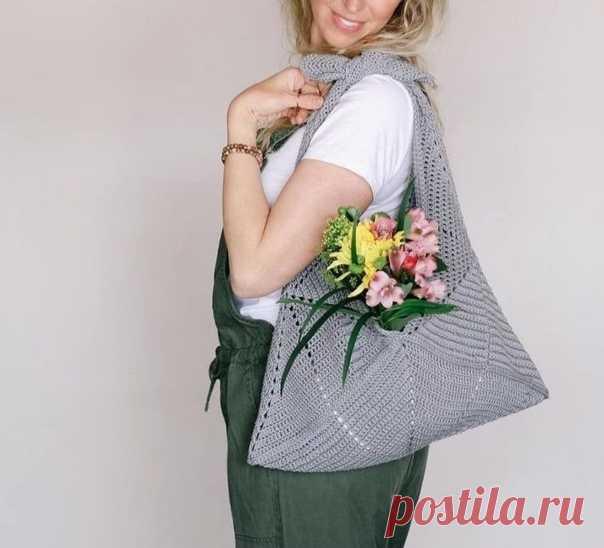 Идея для летней сумочки  #вязание