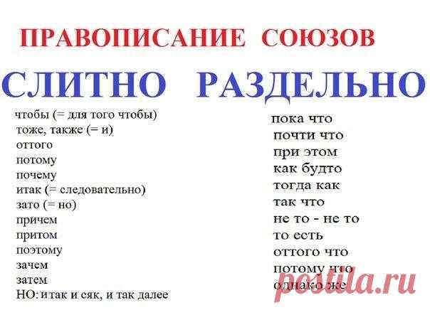 Как правильно говорить по-русски: правописание союзов — Полезные советы