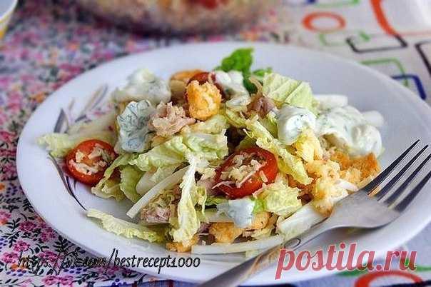 Caesar salad in Russian \u000aon 100 grams - 78.53 kkalb\/zh\/u - 13.48\/1.23\/3.3\u000aIngredients: \u000a- chicken breast (fillet) \u000a- Beijing salad \u000aTo show completely …