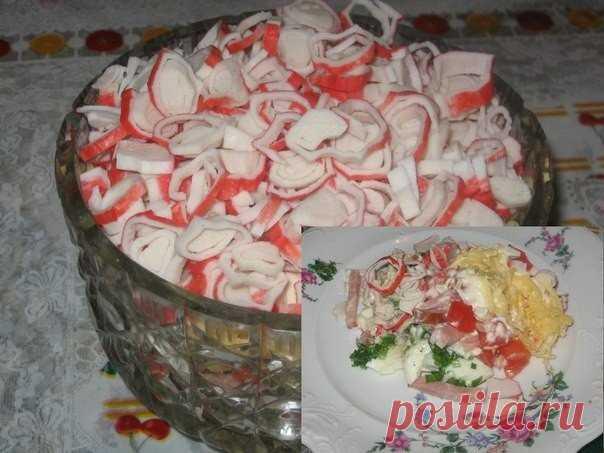 Салат «Курчавый краб» — все гости отметили этот превосходный салатик - Счастливый формат