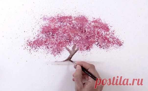 Интересная техника рисования