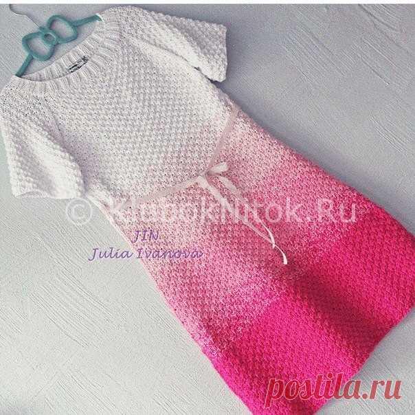 красивые платья с градиентом вязание для женщин вязание спицами