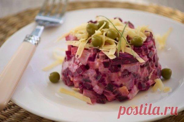 Легкий, необычный свекольный салат. Приготовьте на ужин