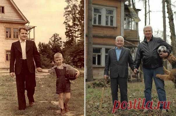 Отец и сын (1949 и 2009 гг.)